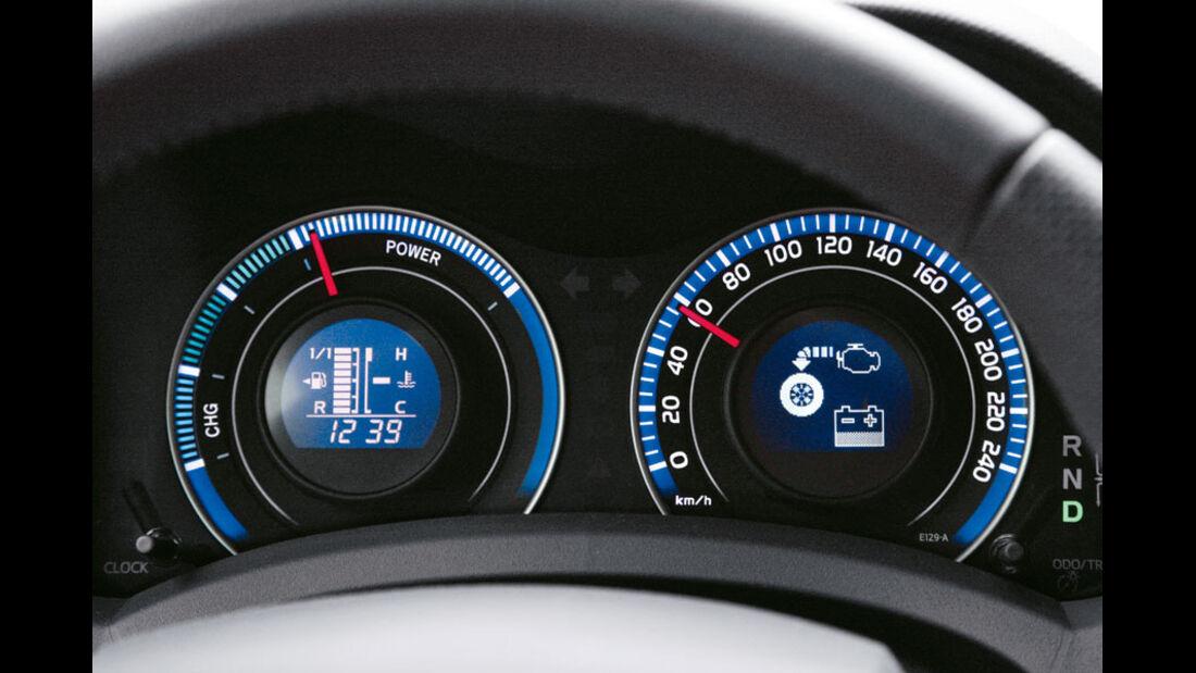 Toyota Auris Hybrid, Instrumente