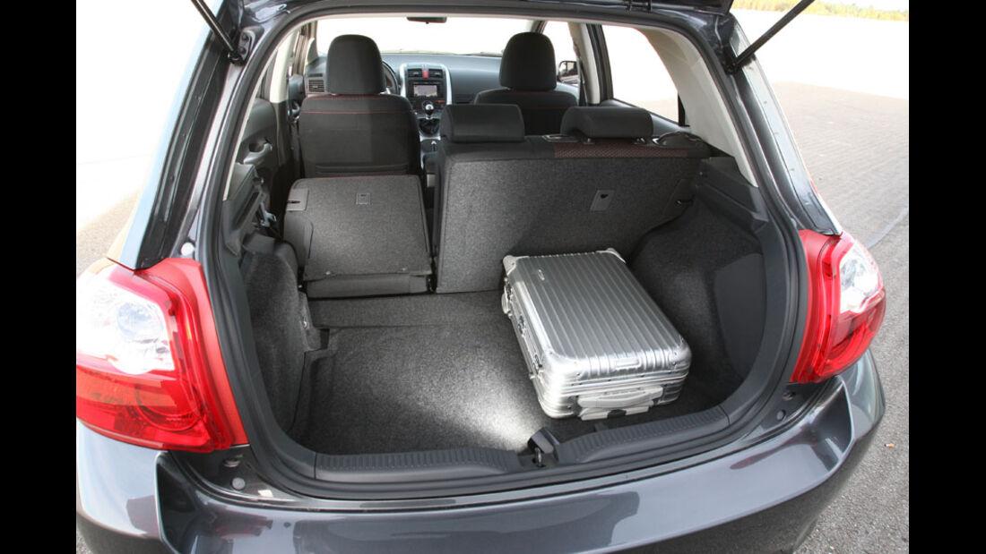 Toyota Auris, Kofferraum