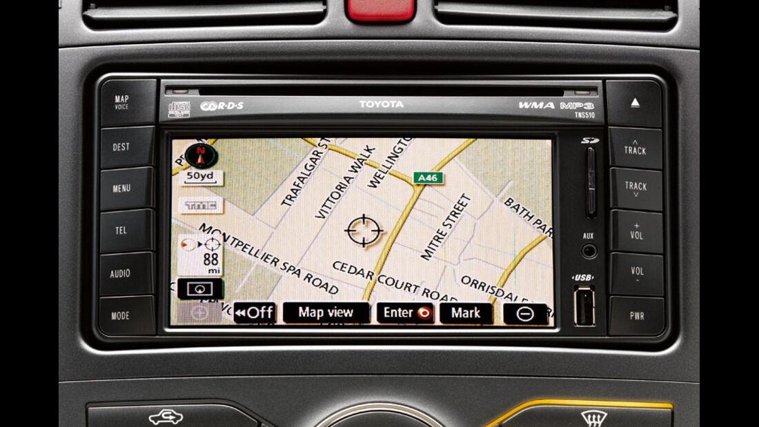 Toyota Auris, SD-Kartennavigation