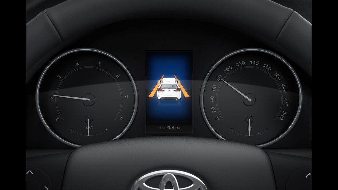 Toyota Avensis 2.0D-4D Touring Sports, Spurwechselwarner