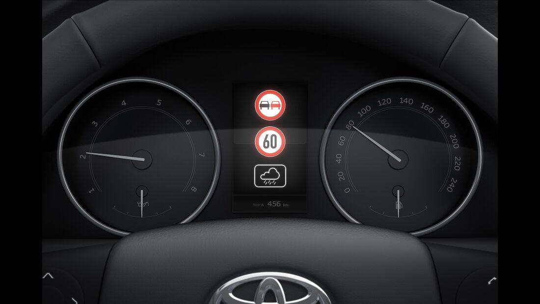Toyota Avensis 2.0D-4D Touring Sports, Verkehrszeichenerkennung