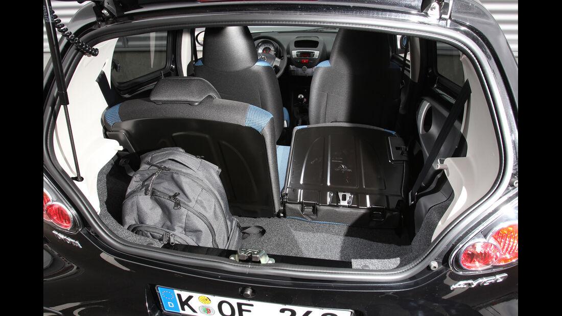 Toyota Aygo 1.0i, Gepäckraum