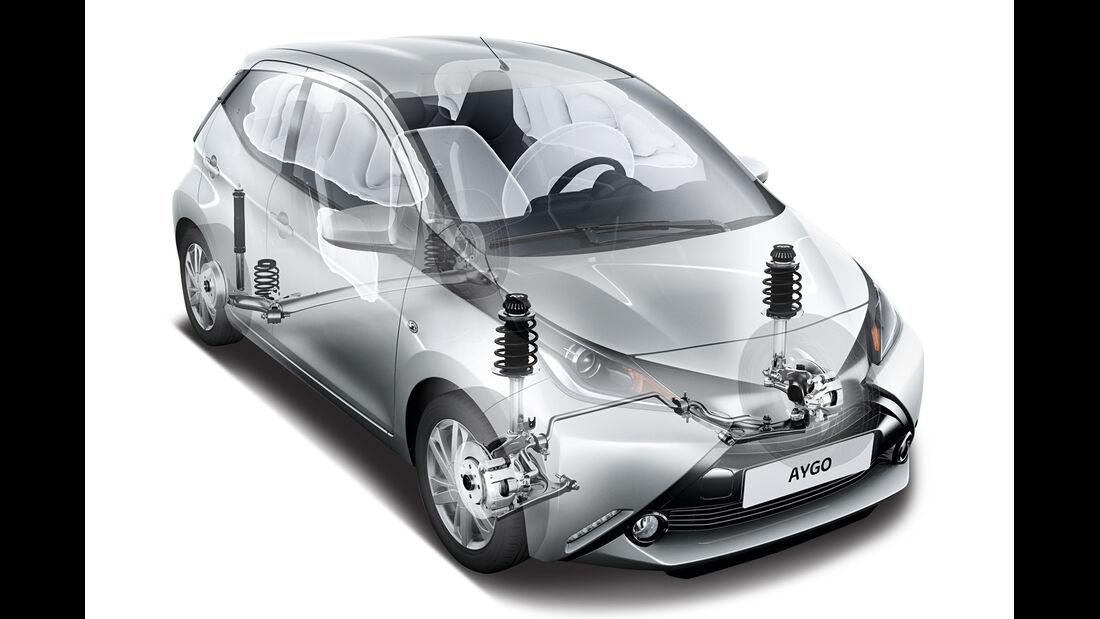 Toyota Aygo, Federbeine