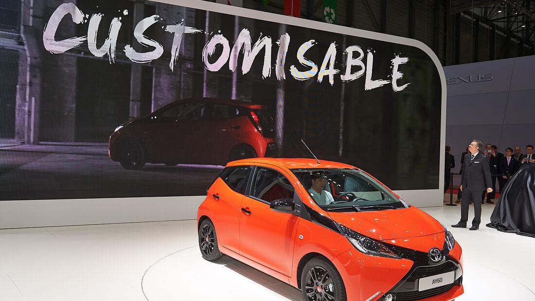 Toyota Aygo, Genfer Autosalon, Messe, 2014