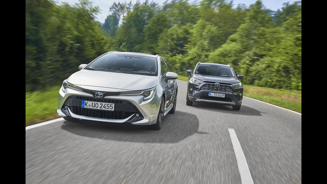 Toyota Corolla TS 2.0 Hybrid, Toyota RAV4 2.5 Hybrid, Exterieur