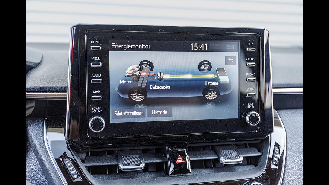 Toyota Corolla Touring Sports, Mittelkonsole