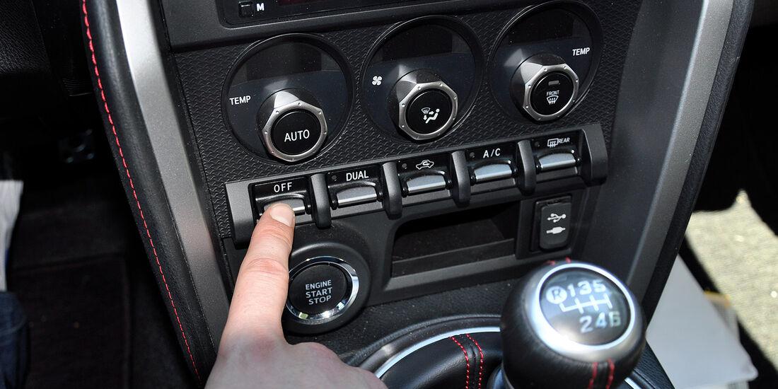 Toyota GT 86, Klimaanlage, Kippschalter