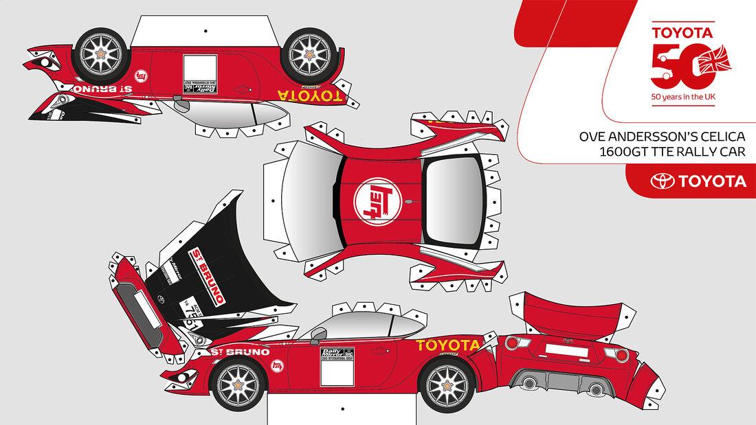 Toyota GT86 Papercraft