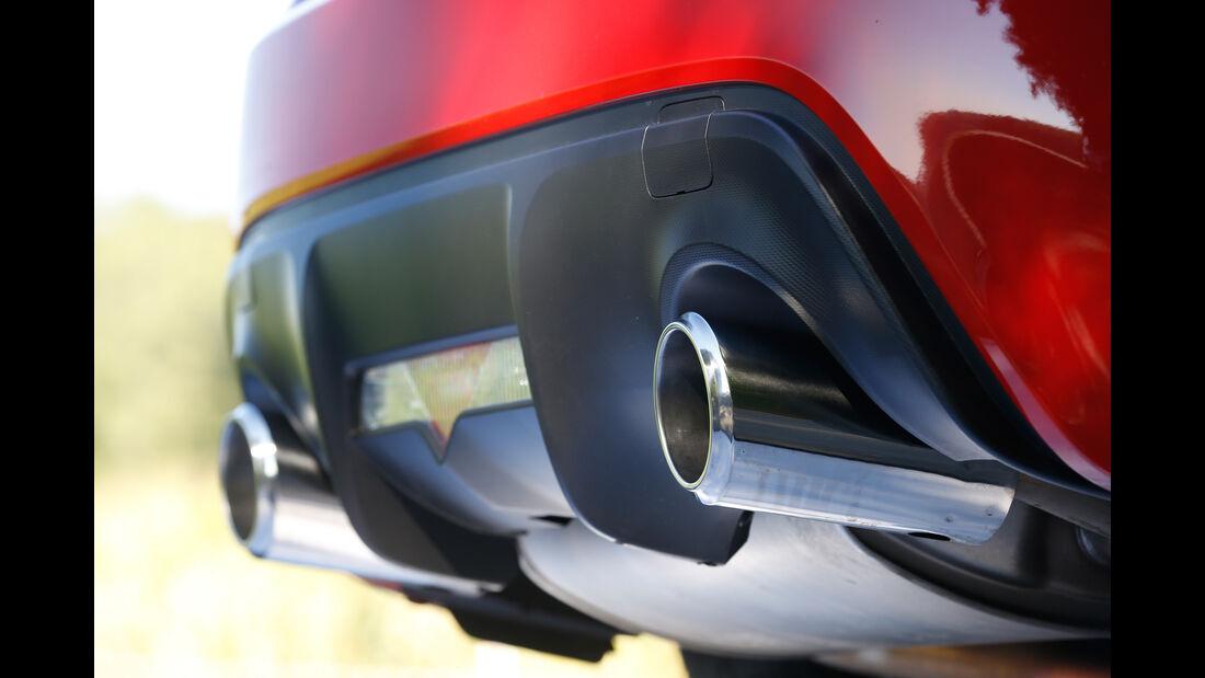 Toyota GT86 Pure, Auspuff, Endrohre