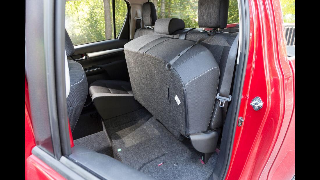 Toyota Hilux Pick-up 2.4D Double Cab 4x4, Fondsitz, Umklappen