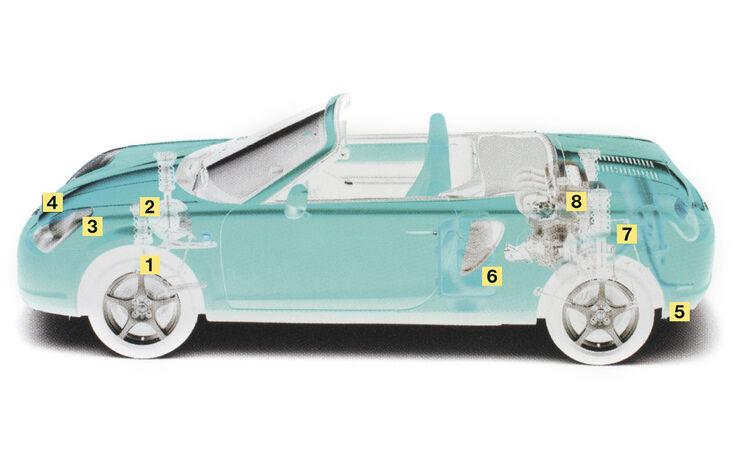 Toyota MR2 Roadster, Igelbild, Schwachstelle