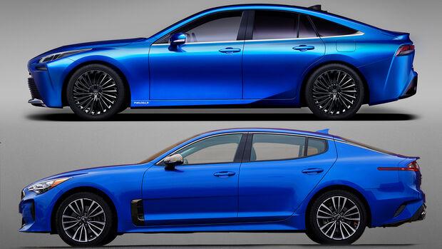 Toyota Mirai Kia Stinger Vergleich