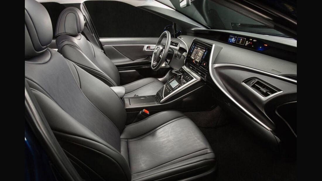 Toyota Mirai, ams, Fahrbericht, Cockpit
