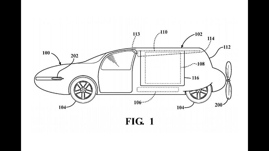 Toyota Patent fliegendes Auto