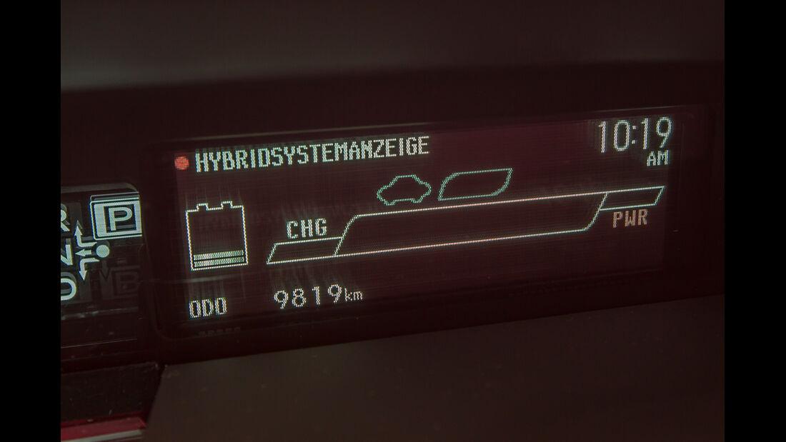 Toyota Prius, Hybrid, Anzeige