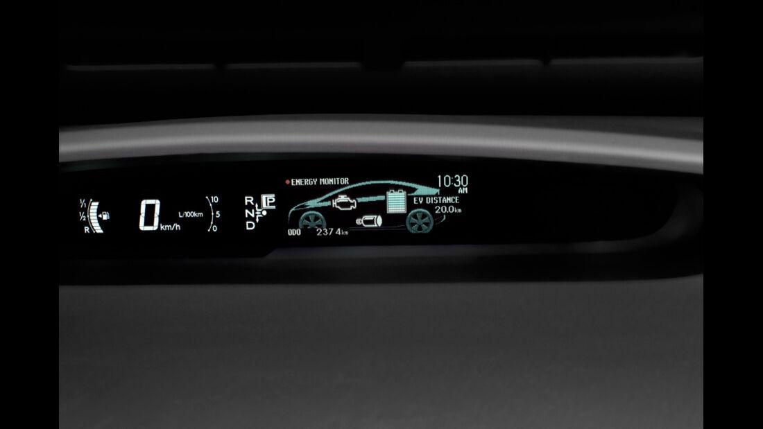 Toyota Prius Plug-in Hybrid, Display