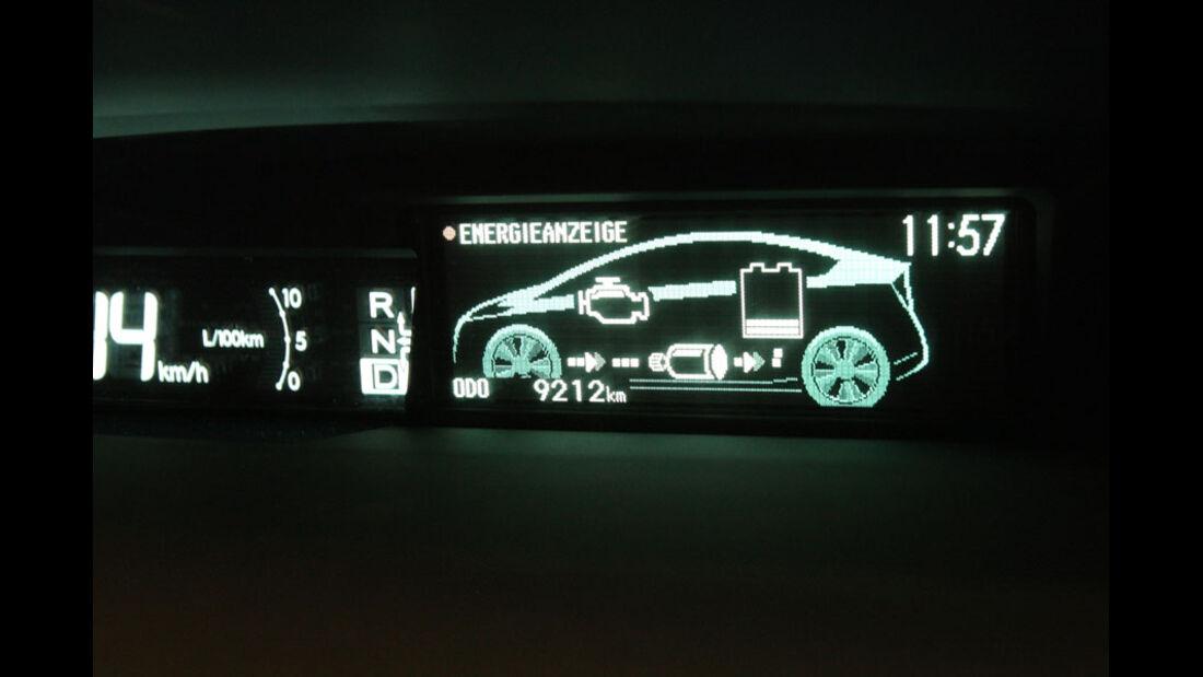 Toyota Prius Plugin, Energieanzeige