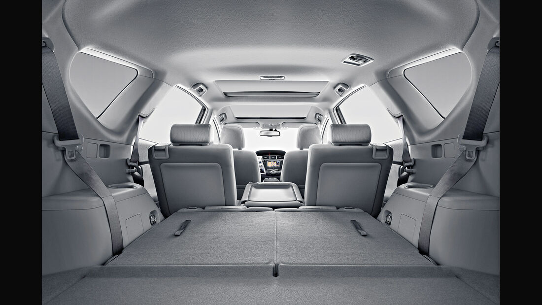 Toyota Prius Plus, Ladefläche, Kofferraum