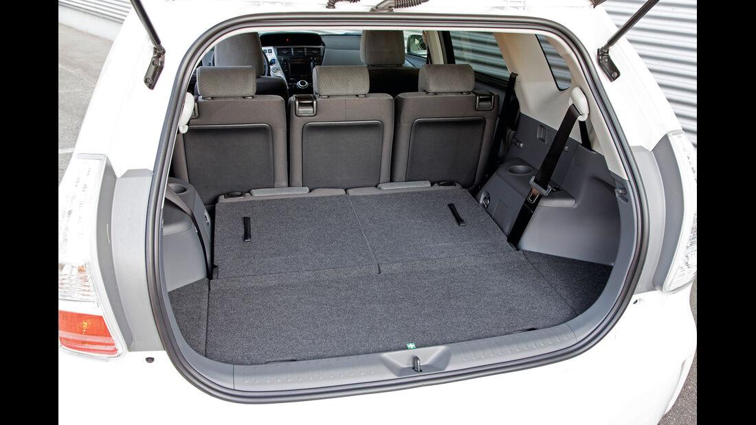 Toyota Prius Plus Life, Kofferraum, Ladefläche