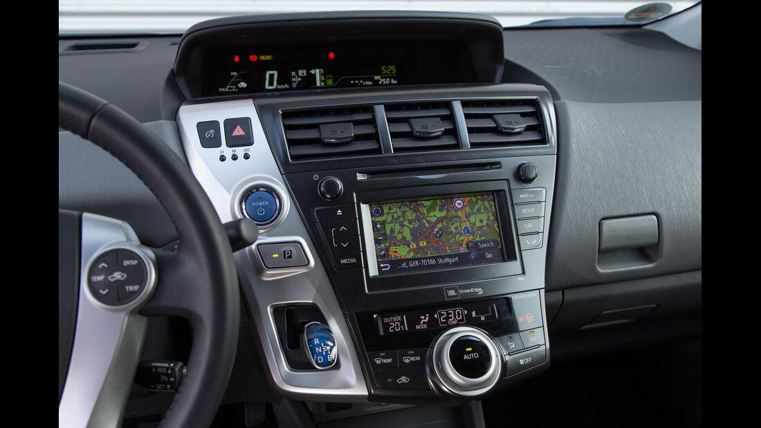 Toyota Prius Plus Life, Mittelkonsole