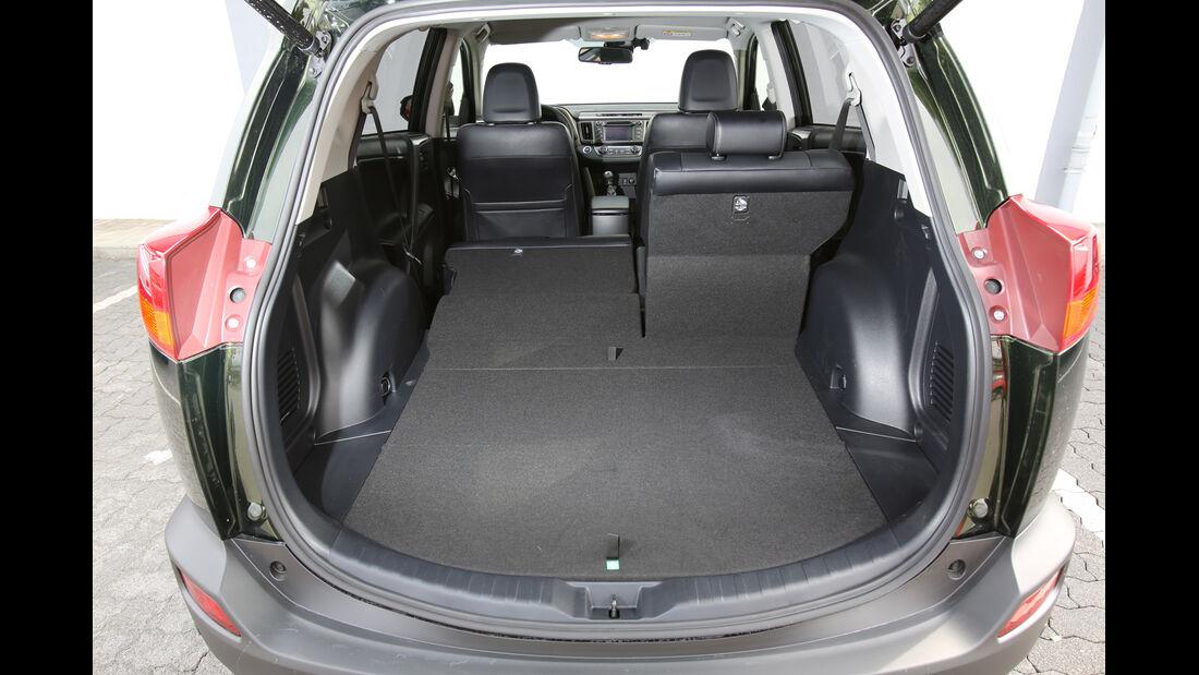 Toyota RAV4 2.0 D-4D, Kofferraum, Ladefläche
