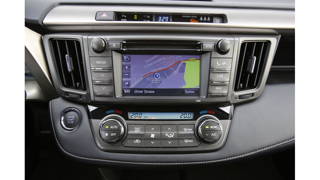Toyota RAV4 2.0 D-4D, Navi, Bildschirm