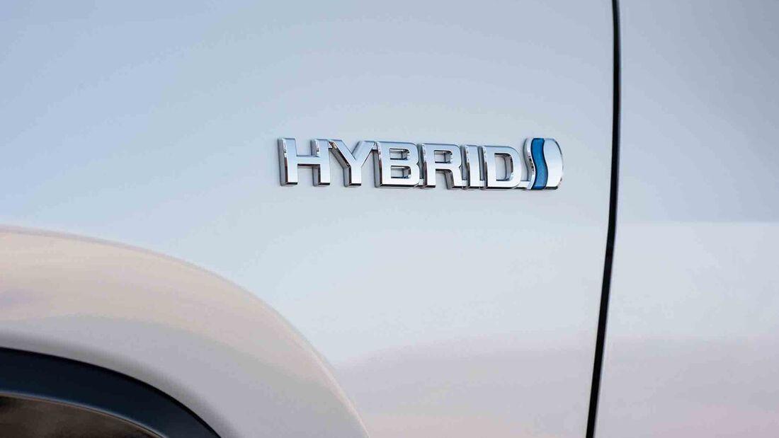 Toyota RAV4 4x4 Hybrid, Fahrbericht, hybrid logo