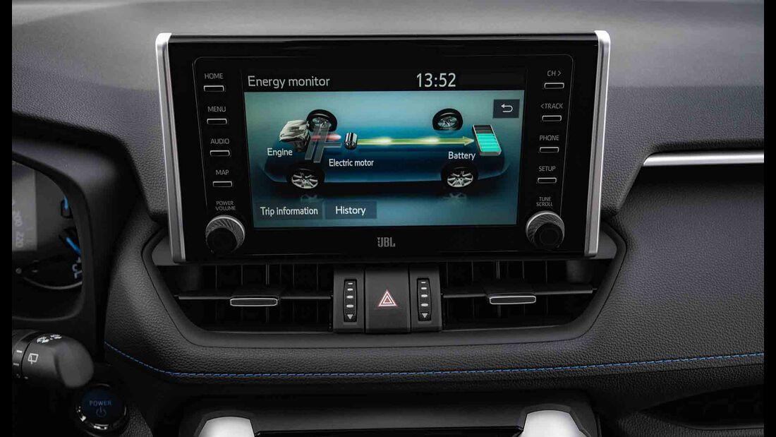 Toyota RAV4 4x4 Hybrid, Fahrbericht, mmi hybriddiagramm