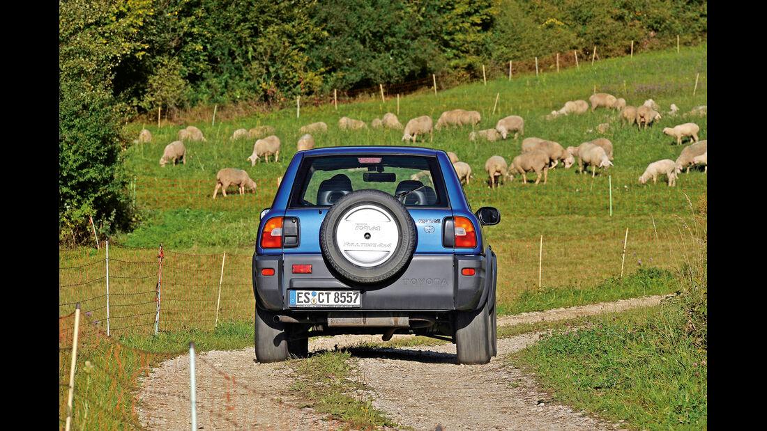 Toyota RAV4, Heckansicht, Ersatzrad