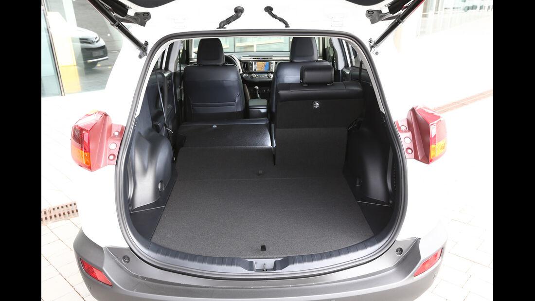 Toyota RAV4, Kofferraum, Ladefläche