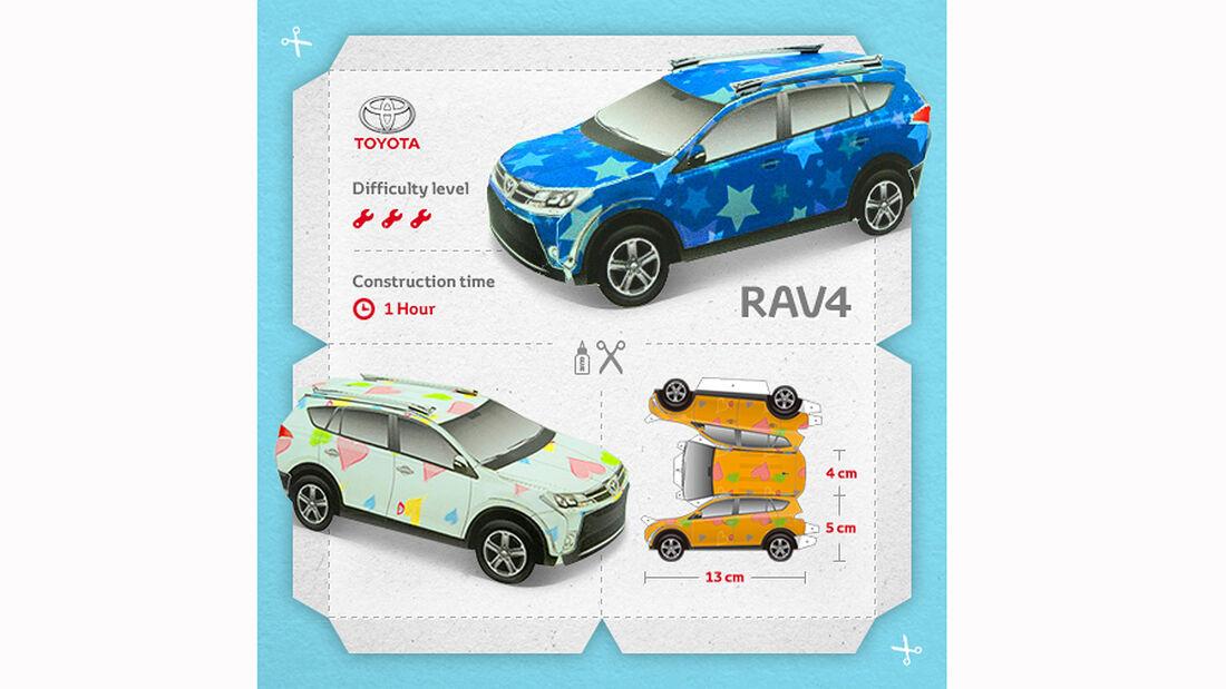 Toyota RAV4 Papercraft