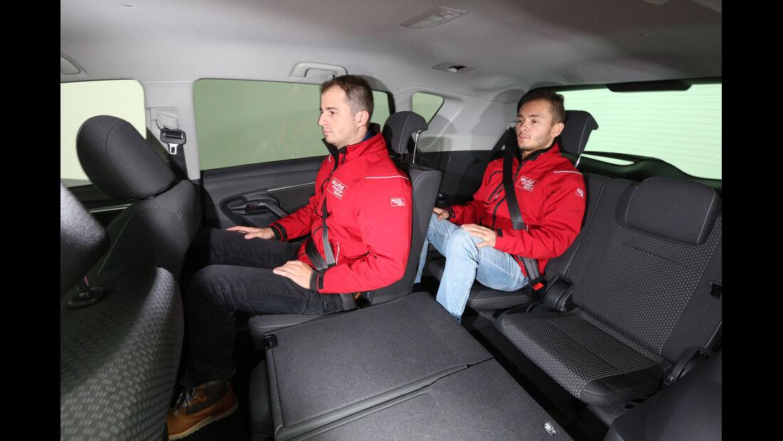 Toyota Verso, Fondsitze, Beinfreiheit