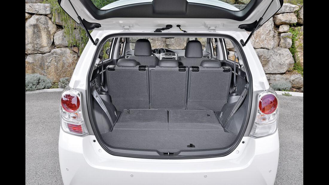Toyota Verso, Ladefläche, Kofferraum