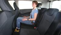 Toyota Verso-S 1.33, Rückbank, Rücksitz