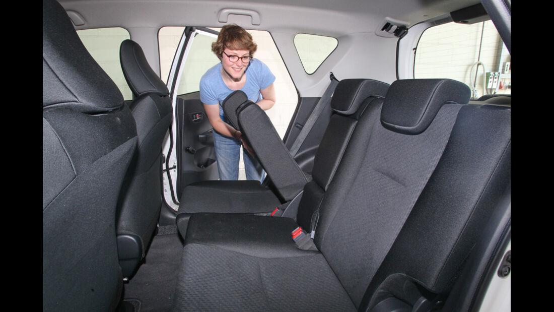 Toyota Verso-S 1.33, Rückbank, Sitz umklappbar