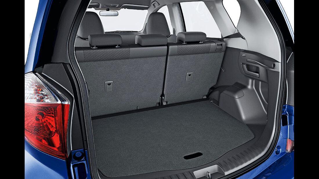 Toyota Verso S, Kofferraum
