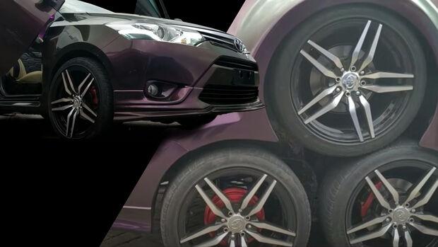 Toyota Vios Tuning Acht Räder Umbau Indonesien