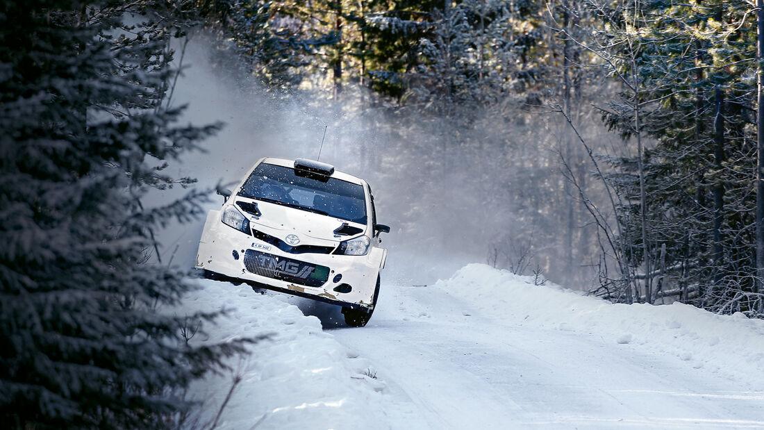 Toyota WRC, Probefahrten, Schweden