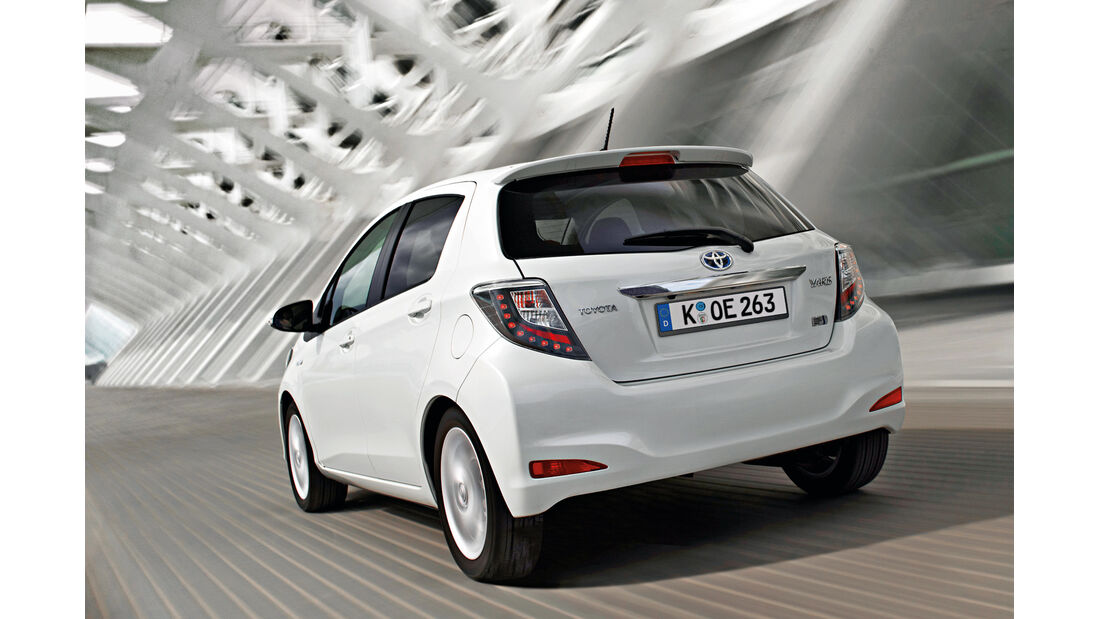 Toyota Yaris Hybrid, Heck