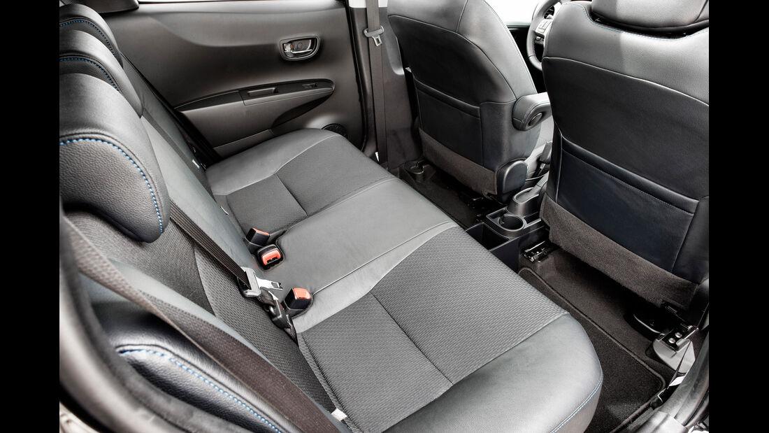 Toyota Yaris Hybrid, Rücksitze