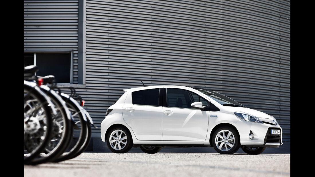 Toyota Yaris Hybrid, Seitenansicht