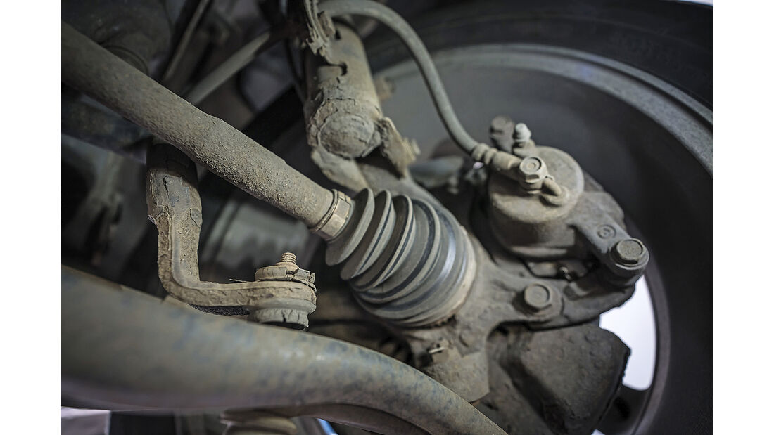 Toyota Yaris I, Achse