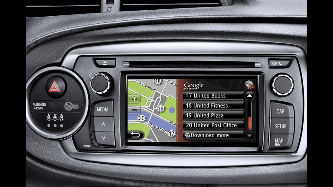 Toyota Yaris, Radio, Navigationssystem