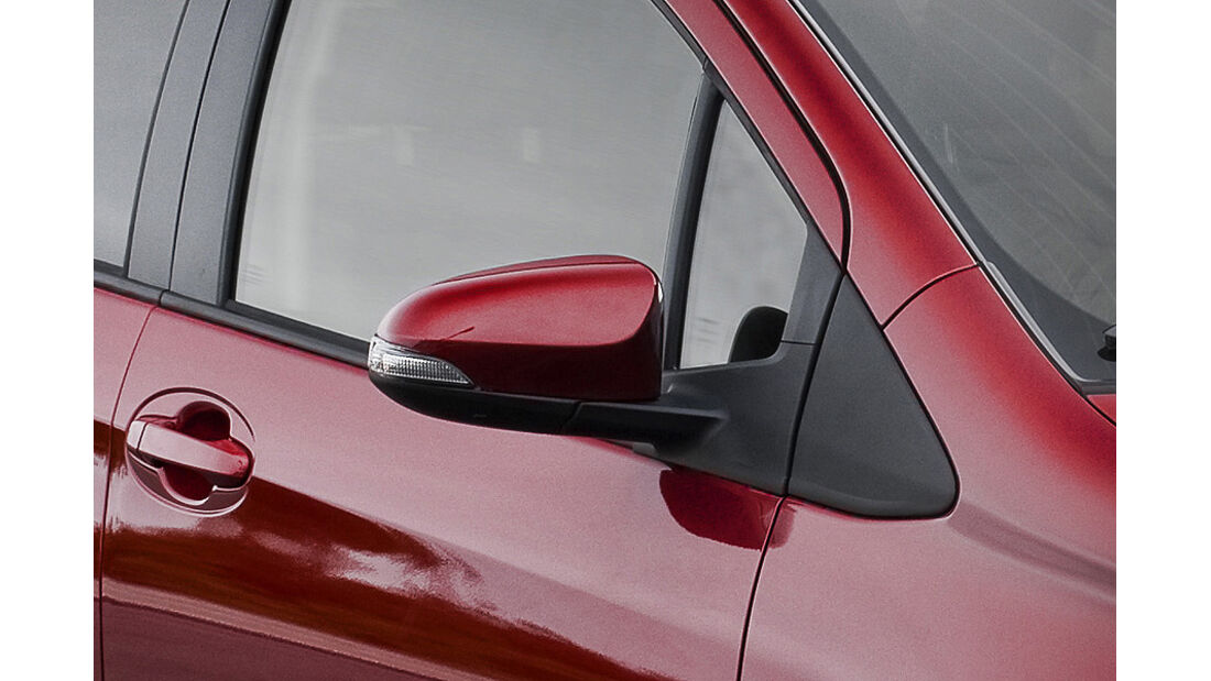 Toyota Yaris, Seitenspiegel