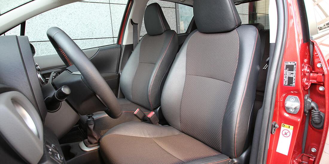 Toyota Yaris, Sitze