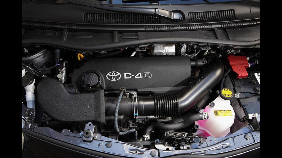 Toyota iQ Motorraum