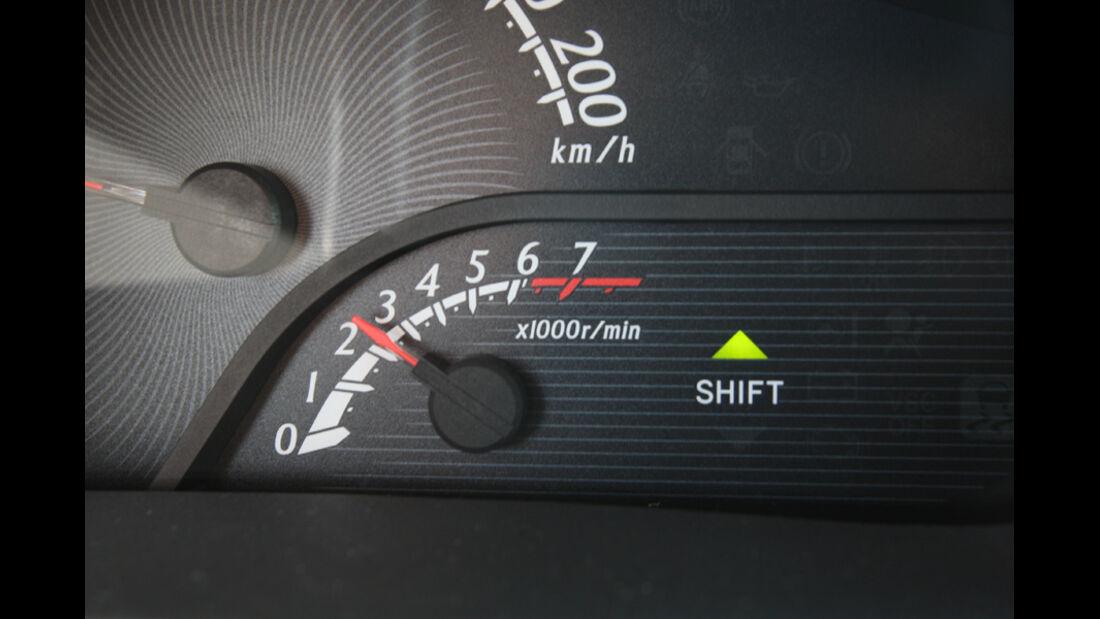 Toyota iQ, Tacho
