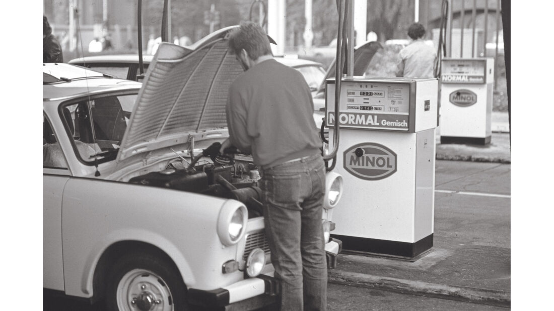 Trabant 601, Tanken