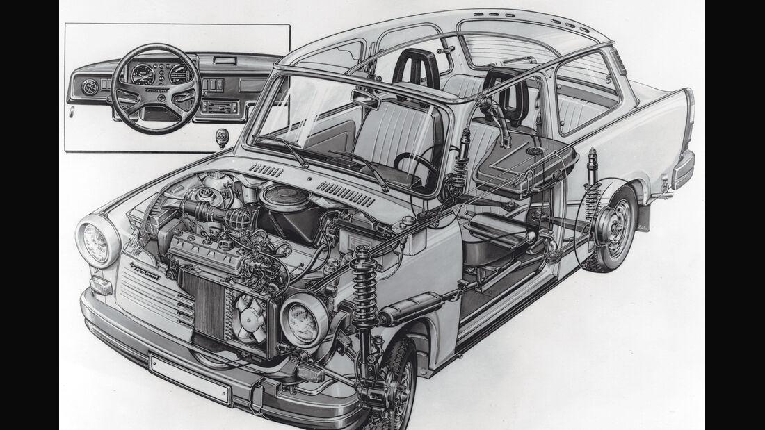 Trabant 601, Technik, Grafik