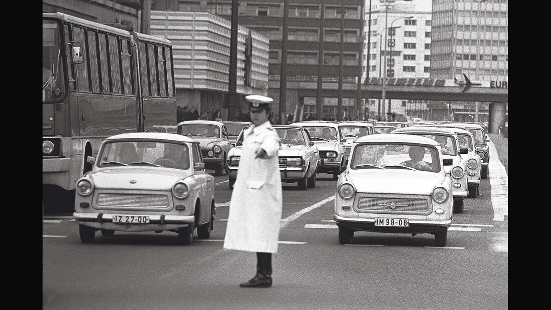 Trabant 601, Verkehr, Kreuzung